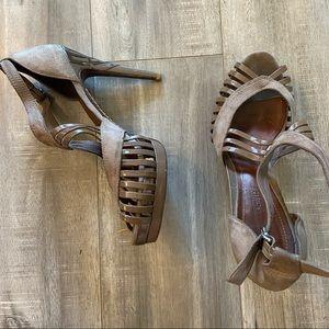 Schutz strapped heels
